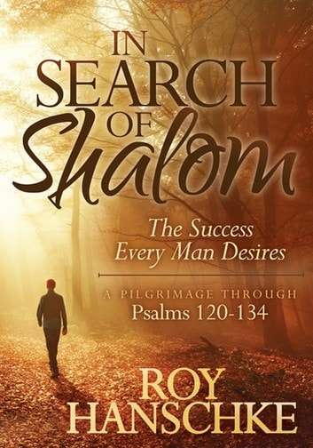 A man walking down country road with tree limbs bare and fallen dead leaves on the ground in Search of Shalom.